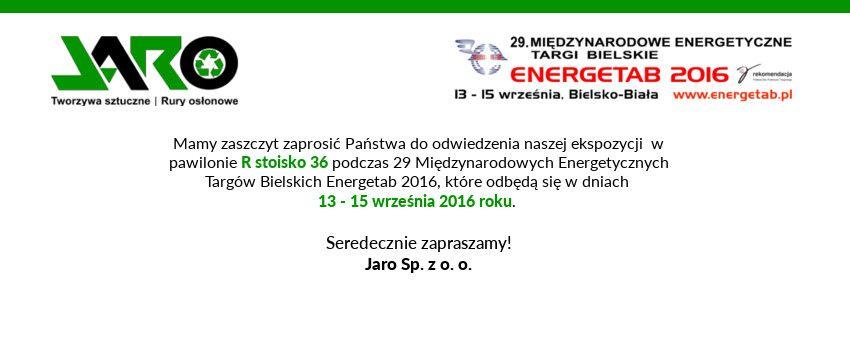 ZAPROSZENIE NA TARGI ENERGETAB 2016